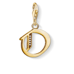 Charm pendant letter O gold from the  collection in the THOMAS SABO online store