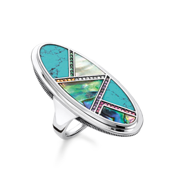"ring ""turquoise, mother-of-pearl"" from the Glam & Soul collection in the THOMAS SABO online store"