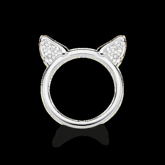 Ring Katzenohren silber aus der Glam & Soul Kollektion im Online Shop von THOMAS SABO