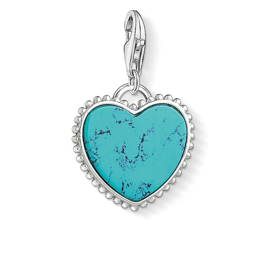 """ciondolo Charm """"Cuore turchese"""" from the  collection in the THOMAS SABO online store"""