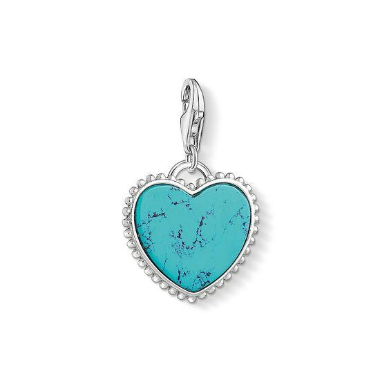 """pendentif Charm """"Cœur turquoise"""" de la collection  dans la boutique en ligne de THOMAS SABO"""
