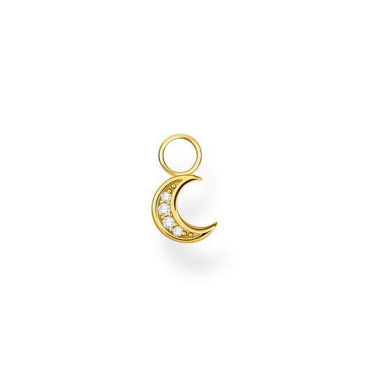 Einzel Ohrring Anhänger Mond gold aus der Charming Collection Kollektion im Online Shop von THOMAS SABO