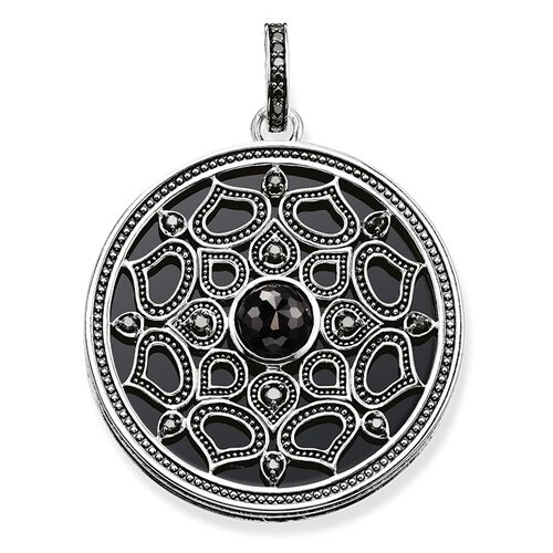 "pendant ""lotus black"" from the Glam & Soul collection in the THOMAS SABO online store"