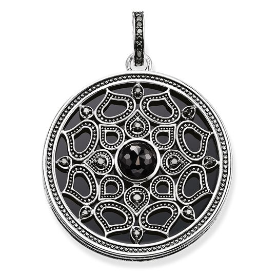 """pendant """"lotus black"""" from the Glam & Soul collection in the THOMAS SABO online store"""