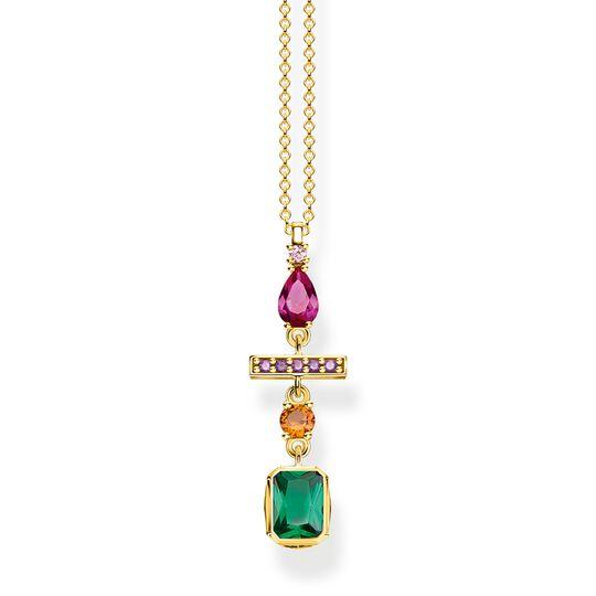 Halsband formblandning i färg guld ur kollektionen  i THOMAS SABO:s onlineshop