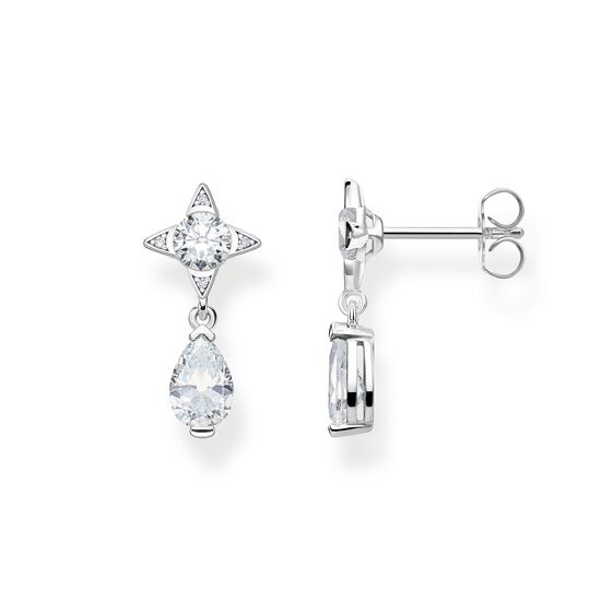 earrings white droplet from the Glam & Soul collection in the THOMAS SABO online store