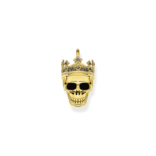 Pendant skull King gold from the Rebel at heart collection in the THOMAS SABO online store