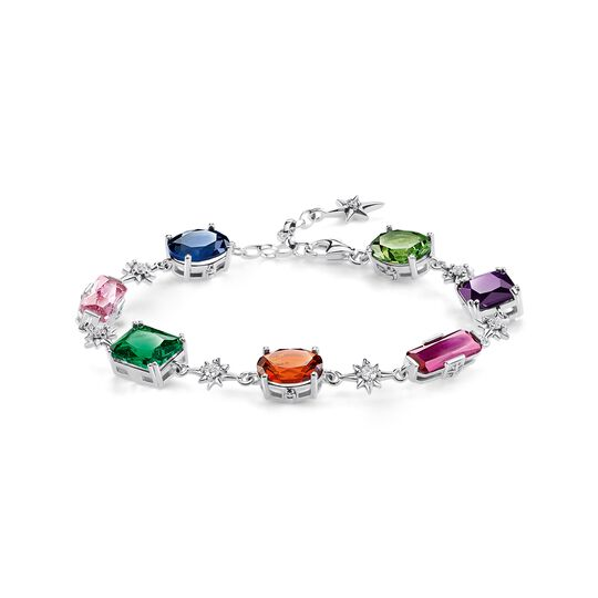 bracelet Colourful stones with silver stars from the  collection in the THOMAS SABO online store