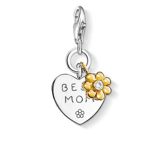 "Charm pendant ""BEST MOM with flower"" from the  collection in the THOMAS SABO online store"