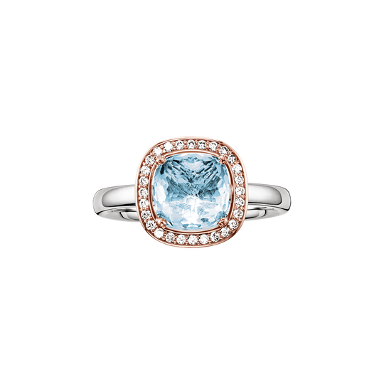solitair ring blue from the Glam & Soul collection in the THOMAS SABO online store