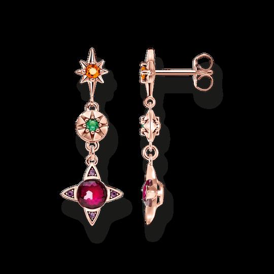 boucles d'oreilles Symboles porte-bonheur colorés de la collection Glam & Soul dans la boutique en ligne de THOMAS SABO
