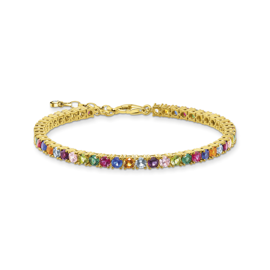 Bracelet colourful stones, gold from the Glam & Soul collection in the THOMAS SABO online store