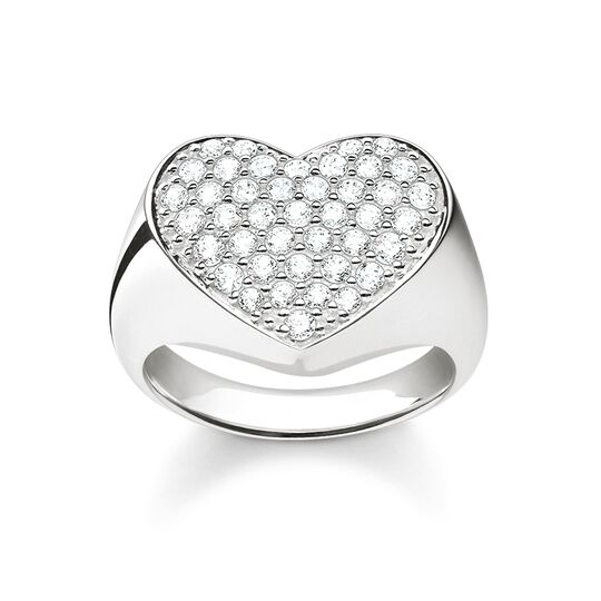 signet ring heart pavé from the Glam & Soul collection in the THOMAS SABO online store