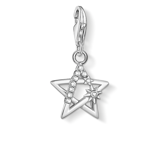 Charm pendant star stones silver from the Charm Club collection in the THOMAS SABO online store