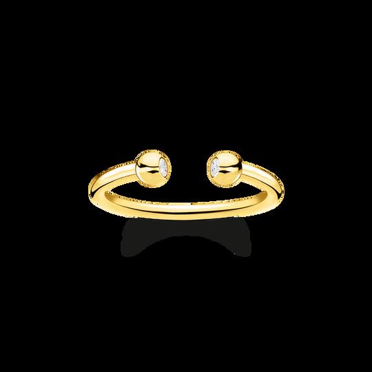 Ring Kugeln mit Steinen gold aus der Charming Collection Kollektion im Online Shop von THOMAS SABO