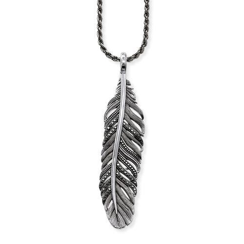 """chaîne """"plume"""" de la collection Rebel at heart dans la boutique en ligne de THOMAS SABO"""