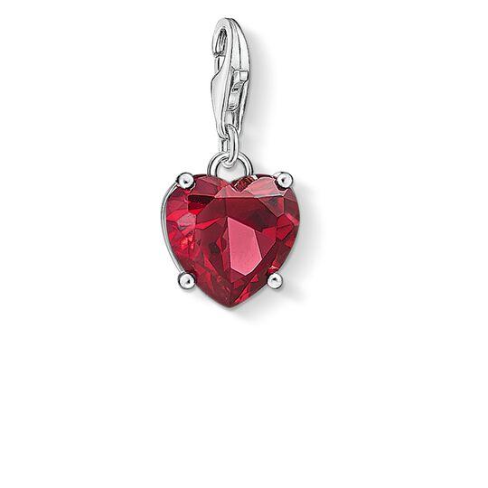 Charm-Anhänger Herz mit rotem Stein aus der  Kollektion im Online Shop von THOMAS SABO