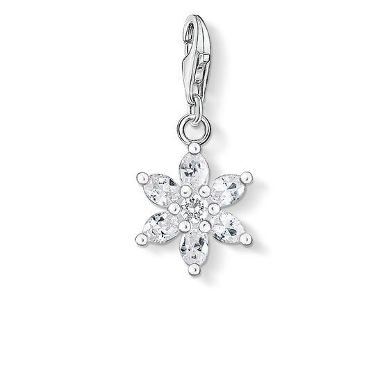"Charm pendant ""white flower"" from the  collection in the THOMAS SABO online store"