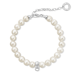 Charm pearl bracelet from the  collection in the THOMAS SABO online store