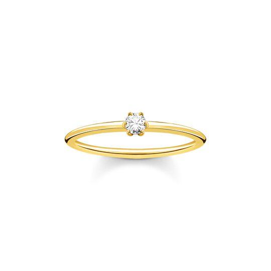Bague pierre blanche or de la collection Charming Collection dans la boutique en ligne de THOMAS SABO