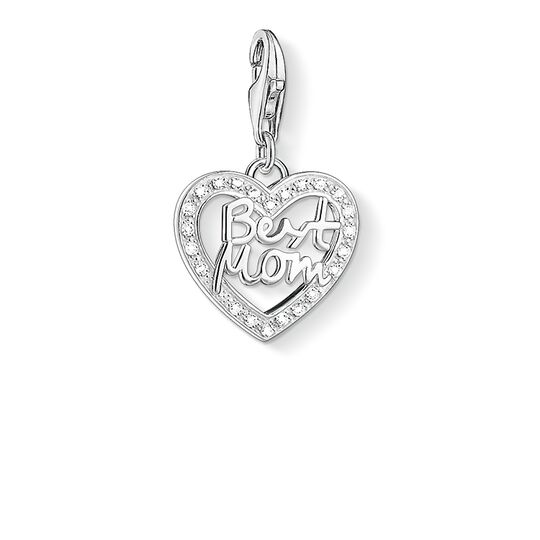 """Charm pendant """"heart BEST MOM"""" from the  collection in the THOMAS SABO online store"""