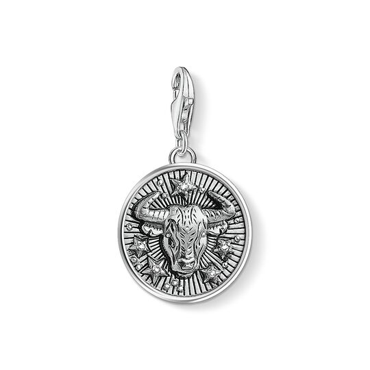 Charm pendant zodiac sign Taurus from the Charm Club collection in the THOMAS SABO online store