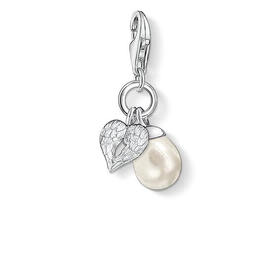 "ciondolo Charm ""ali e perla"" from the  collection in the THOMAS SABO online store"