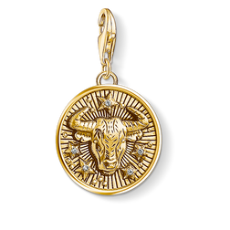 Charm pendant zodiac sign Taurus from the Charm Club Collection collection in the THOMAS SABO online store