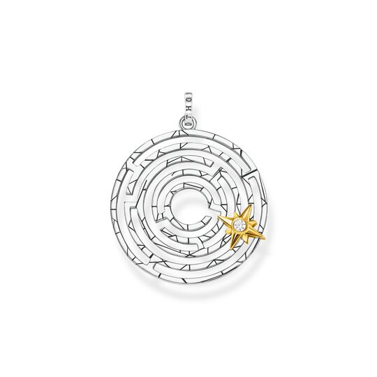 pendant Labyrinth with golden star from the  collection in the THOMAS SABO online store