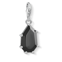 Charm pendant black stone from the  collection in the THOMAS SABO online store