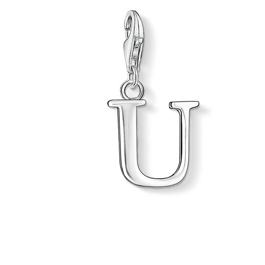 Charm pendant letter U from the  collection in the THOMAS SABO online store