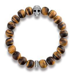 "bracelet ""Power Bracelet Skull with Lily"" from the Rebel at heart collection in the THOMAS SABO online store"