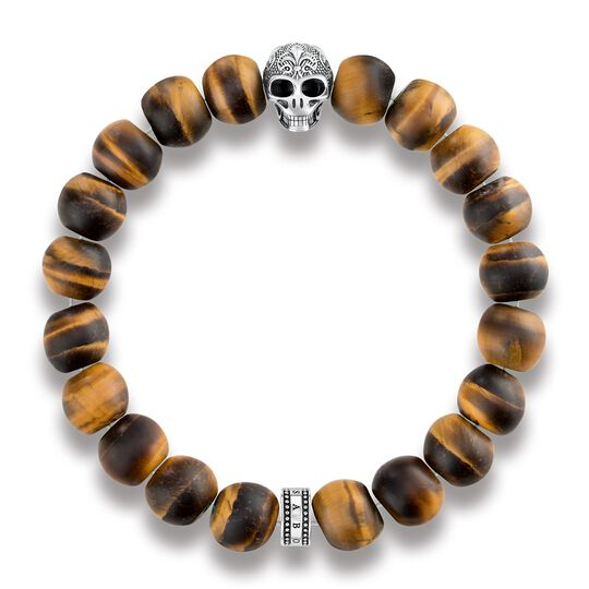 power bracelet skull with lily from the Rebel at heart collection in the THOMAS SABO online store