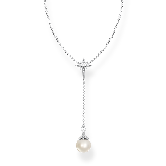 Necklace pearl star silver from the Glam & Soul collection in the THOMAS SABO online store