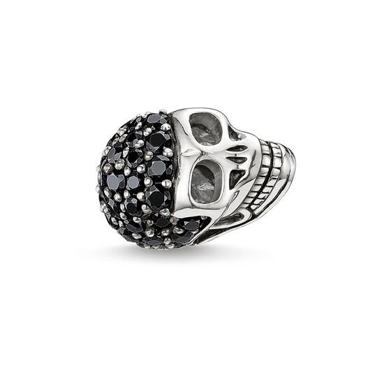 Bead tête de mort avec pavé de la collection Karma Beads dans la boutique en ligne de THOMAS SABO