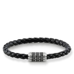 "leather strap ""black zig zag"" from the Rebel at heart collection in the THOMAS SABO online store"
