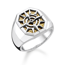 Ring Kompass gold aus der Rebel at heart Kollektion im Online Shop von THOMAS SABO