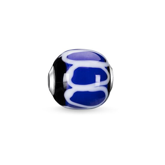 "Bead ""Glass Bead Blue, black, white"" from the Karma Beads collection in the THOMAS SABO online store"