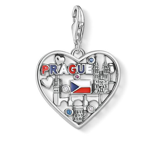 Charm pendant We love Prague silver from the Charm Club collection in the THOMAS SABO online store
