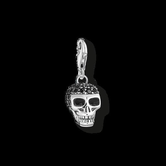 pendentif Charm tête de mort avec pavé de la collection Charm Club dans la boutique en ligne de THOMAS SABO