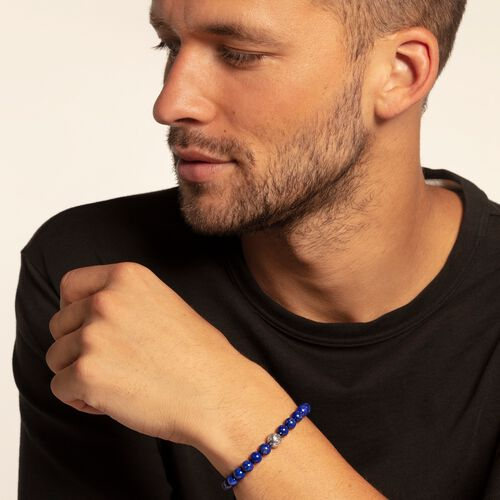 "bracelet ""Ethnic blue"" from the Rebel at heart collection in the THOMAS SABO online store"