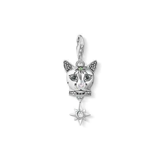 Charm pendant Cat silver from the Charm Club collection in the THOMAS SABO online store