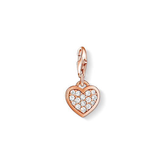 Charm pendant glitter heart from the Charm Club collection in the THOMAS SABO online store