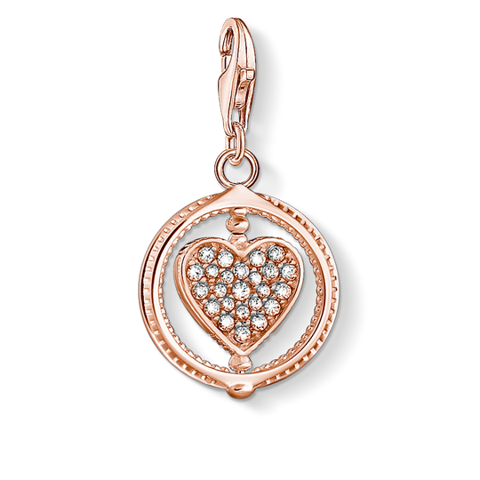 Charm pendant heart pavé rose gold from the Charm Club collection in the THOMAS SABO online store
