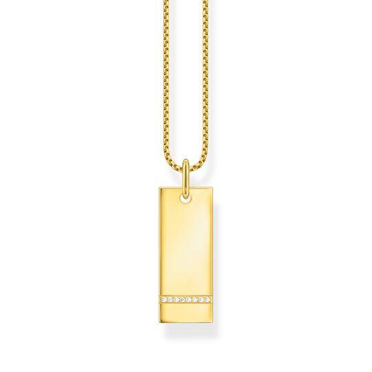 Halsband tag med vita stenar guld ur kollektionen  i THOMAS SABO:s onlineshop