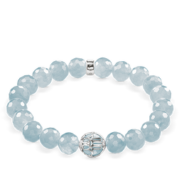 "bracelet ""light-blue lotus flower"" from the Glam & Soul collection in the THOMAS SABO online store"