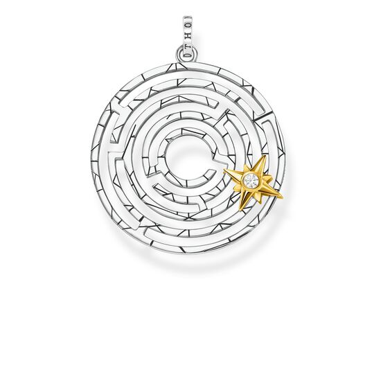 pendant Labyrinth with golden star from the Glam & Soul collection in the THOMAS SABO online store
