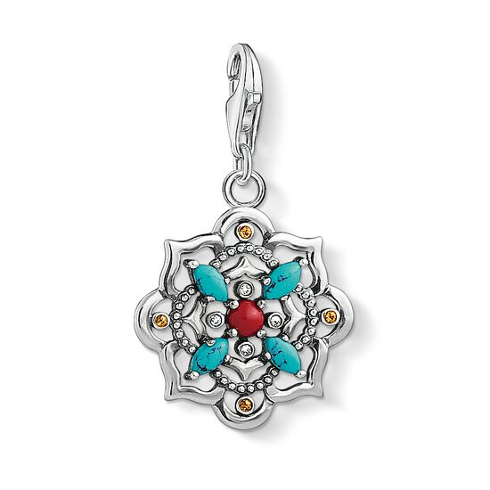 "ciondolo Charm ""Fiore di loto etnico"" from the  collection in the THOMAS SABO online store"