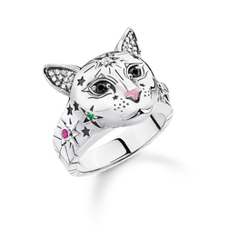 ring cat silver from the Glam & Soul collection in the THOMAS SABO online store