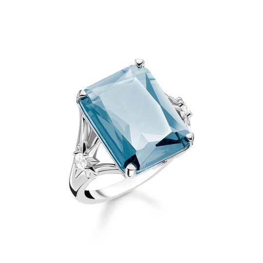 ring Blue stone, large, with star from the  collection in the THOMAS SABO online store